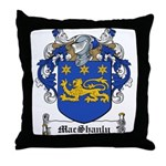 MacShanly Family Crest Throw Pillow