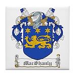 MacShanly Family Crest Tile Coaster