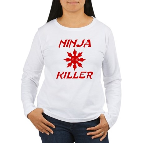 Ninja Killer Womens Long Sleeve T-Shirt