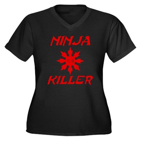 Ninja Killer Plus Size V-Neck Shirt