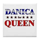 DANICA for queen Tile Coaster