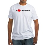 I Love Buddha -  Fitted T-Shirt