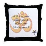 Creating Yourself Throw Pillow