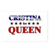 CRISTINA for queen Postcards (Package of 8)