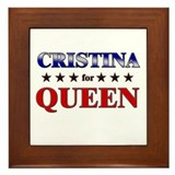 CRISTINA for queen Framed Tile