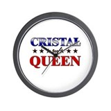 CRISTAL for queen Wall Clock