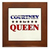 COURTNEY for queen Framed Tile