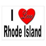 I Love Rhode Island Small Poster