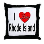 I Love Rhode Island Throw Pillow