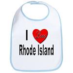I Love Rhode Island Bib