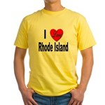 I Love Rhode Island Yellow T-Shirt