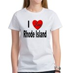 I Love Rhode Island Women's T-Shirt