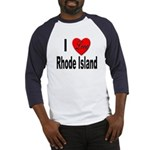 I Love Rhode Island Baseball Jersey