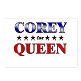 COREY for queen Postcards (Package of 8)