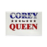 COREY for queen Rectangle Magnet