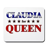 CLAUDIA for queen Mousepad