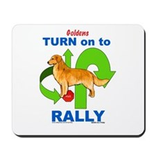 Golden Retriever RALLY Mousepad