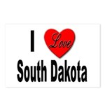 I Love South Dakota Postcards (Package of 8)