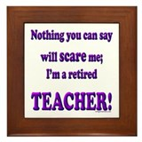 Cute Teacher retirement Framed Tile