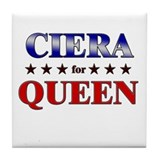 CIERA for queen Tile Coaster