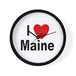 I Love Maine Wall Clock