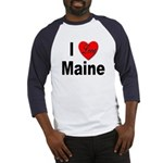 I Love Maine Baseball Jersey