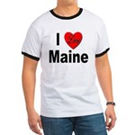 I Love Maine Ringer T