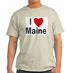 I Love Maine Ash Grey T-Shirt