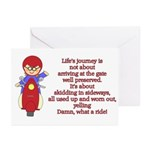 Life's Journey Scooter Greeting Cards (Pk of 10)