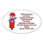 Life's Journey Scooter Oval Sticker