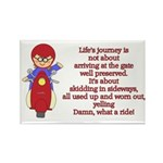 Life's Journey Scooter Rectangle Magnet (10 pack)