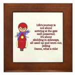 Life's Journey Scooter Framed Tile