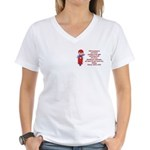 Life's Journey Scooter Women's V-Neck T-Shirt