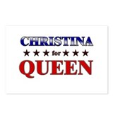 CHRISTINA for queen Postcards (Package of 8)