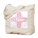 Nurse Pink Lacy Cross Tote Bag