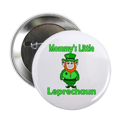 "Mommy's Little Leprechaun 2.25"" Button"