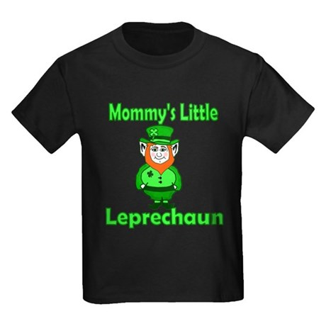 Mommy's Little Leprechaun Kids Dark T-Shirt