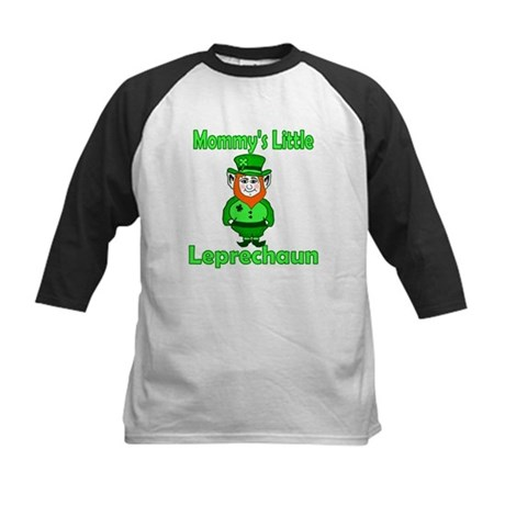 Mommy's Little Leprechaun Kids Baseball Jersey