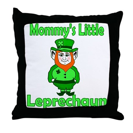 Mommy's Little Leprechaun Throw Pillow
