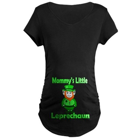 Mommy's Little Leprechaun Maternity Dark T-Shirt