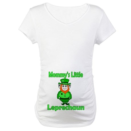 Mommy's Little Leprechaun Maternity T-Shirt