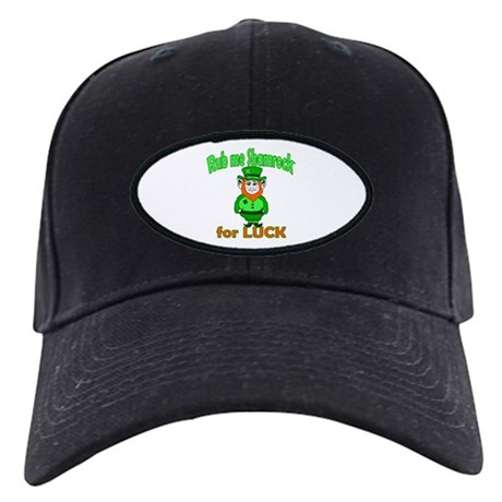 Funny Leprechaun Irish Black Cap