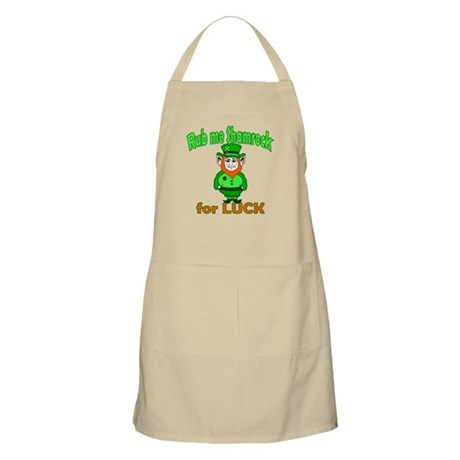 Funny Leprechaun Irish BBQ Apron
