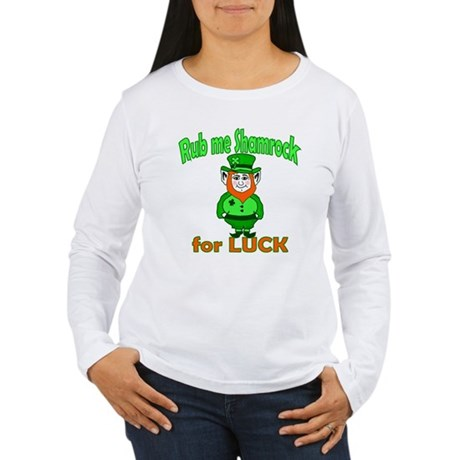Funny Leprechaun Irish Women's Long Sleeve T-Shirt