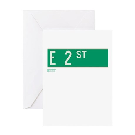 2nd Street in NY Greeting Card