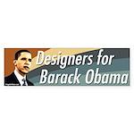 Designers for Barack Obama bumper sticker