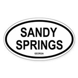 Sandy Springs Oval Decal