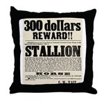 Reward Horse Thief Throw Pillow
