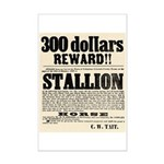 Reward Horse Thief Mini Poster Print