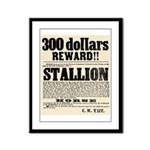 Reward Horse Thief Framed Panel Print